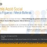 Acte Entrega Premis Acció Social Maria Figueras i Mercè Bañeras: 22 abril a les 12h a Girona