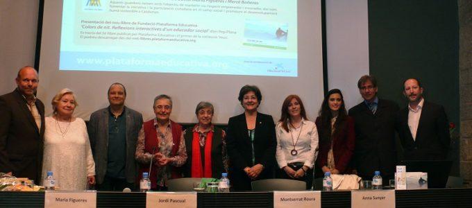 Premiats, autoritats i representants de Plataforma Educativa
