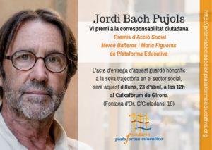 Jordi Bach Pujols, VI premi a la corresponsabilitat ciutadana